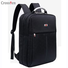 "Купить с кэшбэком 2018 Crossten New 15"" laptop Backpack Fashionable Business Notebook Backpack Travel Bags Schoolbag With Alloy Handle Swiss bag"