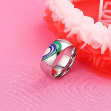 Heart Rainbow Ring Gay and Lesbian