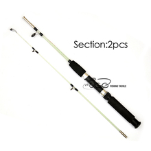 1pcs 1.1m Two Sections Transparent Solid Glass Fiber Fishing Rod Small Size Lure Fishing Ice Fishing Rods