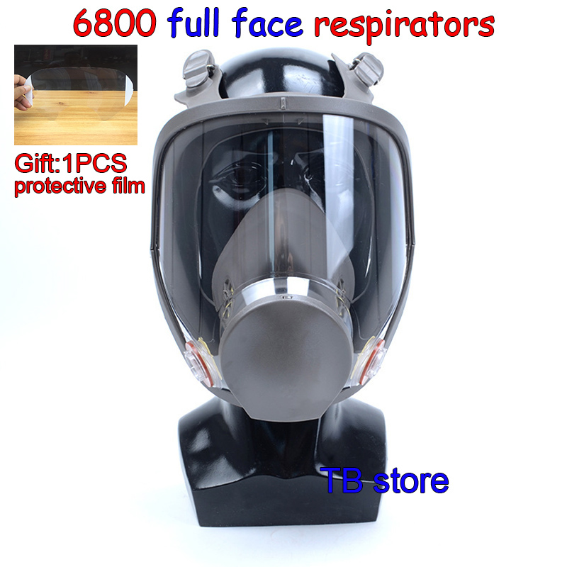 6800 Gas Mask High Quality Full Face Respirator Spray Paint Pesticide  Protective Mask Can Cooperate With 3M / SJL Filter