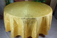 2016 New Design Gold Celosia Flower Jacquard Tablecloth Table Linen For Wedding Party Home Decorations Wedding