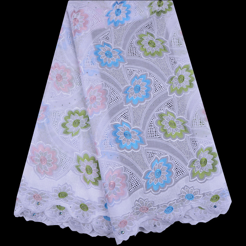 High Quality Swiss Voile Lace In Switzerland 2019 french Cotton Dry Lace Materials Men Embroidery Swiss