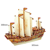 Home Decor Figurine DIY Wooden Miniature Ship Model Kits Boat Decoration Wood Crafts Accessories Gifts for Children BA