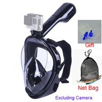 Underwater Diving Mask Full Face Snorkeling Mask Kids Adult Anti fog Scuba Spearfishing Camera Mount For Gopro easybreath swim