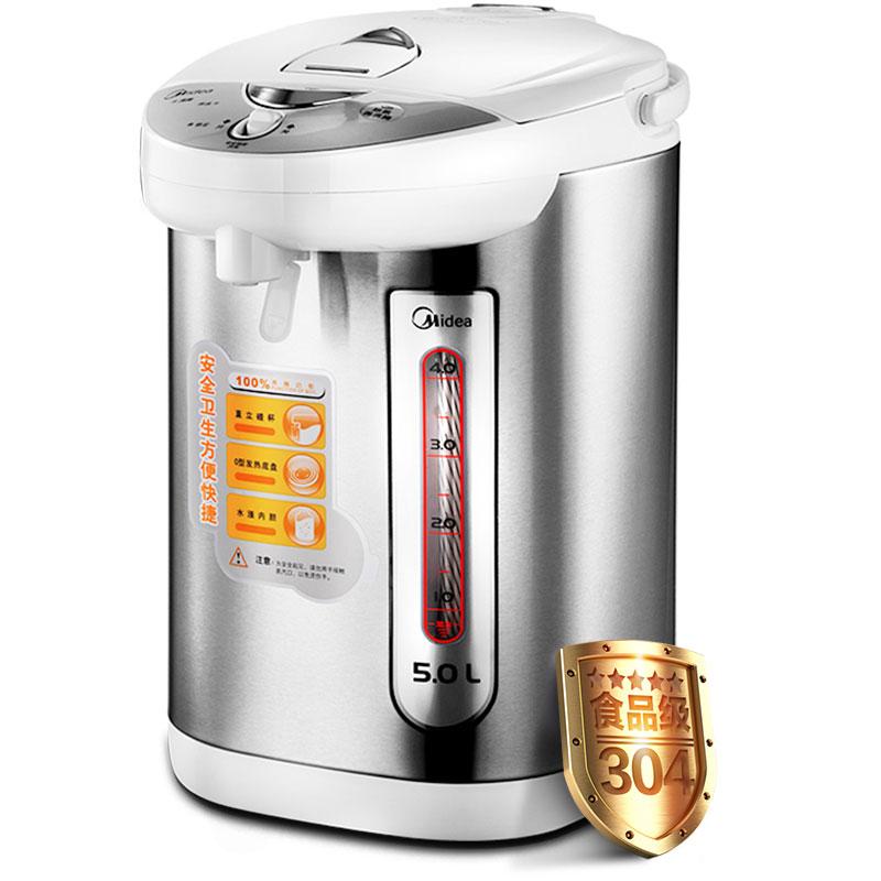 Midea Термальность изоляция бытовых 5 л 304 Нержавеющаясталь Электрический чайник кипятить воду pd105-50