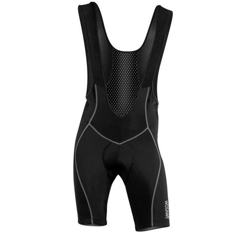 WOSAWE Mens Cycling Bib Shorts Pants Bicycle Bike Vest Shorts Chothes Cycle Wear Clothing 3D Cushion Pad Braces Tights M-3XL
