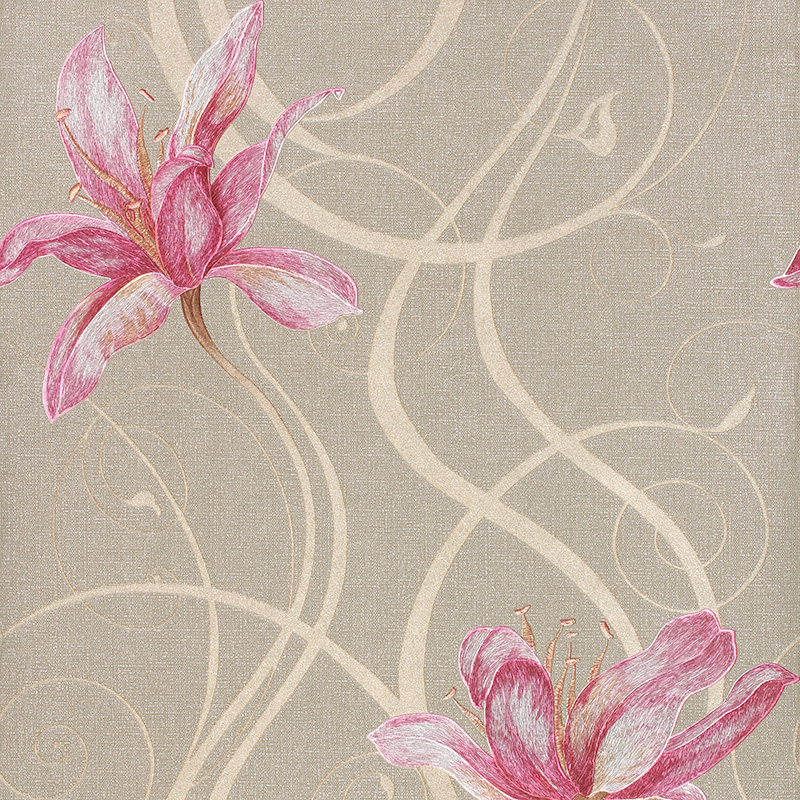 Modern Romance 3D Floral Wallpaper PVC Stereoscopic 3D Wallpaper For Bedroom Murals Wall Paper Blue Red Gold Gray