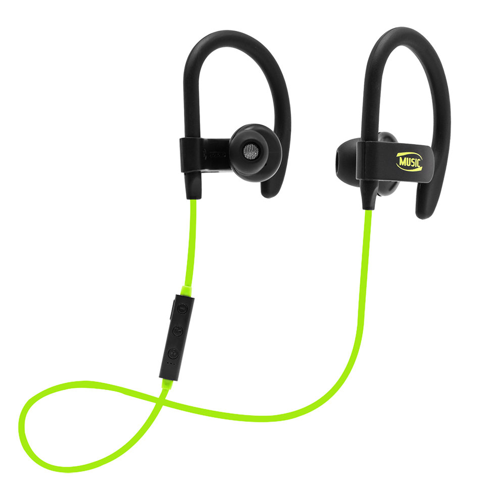 2018 New Stereo Sports Earphone Bluetooth Ear Hook Earbuds Headset with Music Hands Free Wireless Bass Sound for all Model Phone