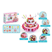 Surwish Children Funny Pretend & Play Toy Emulational Music Cake Kitchen Toy Large Size