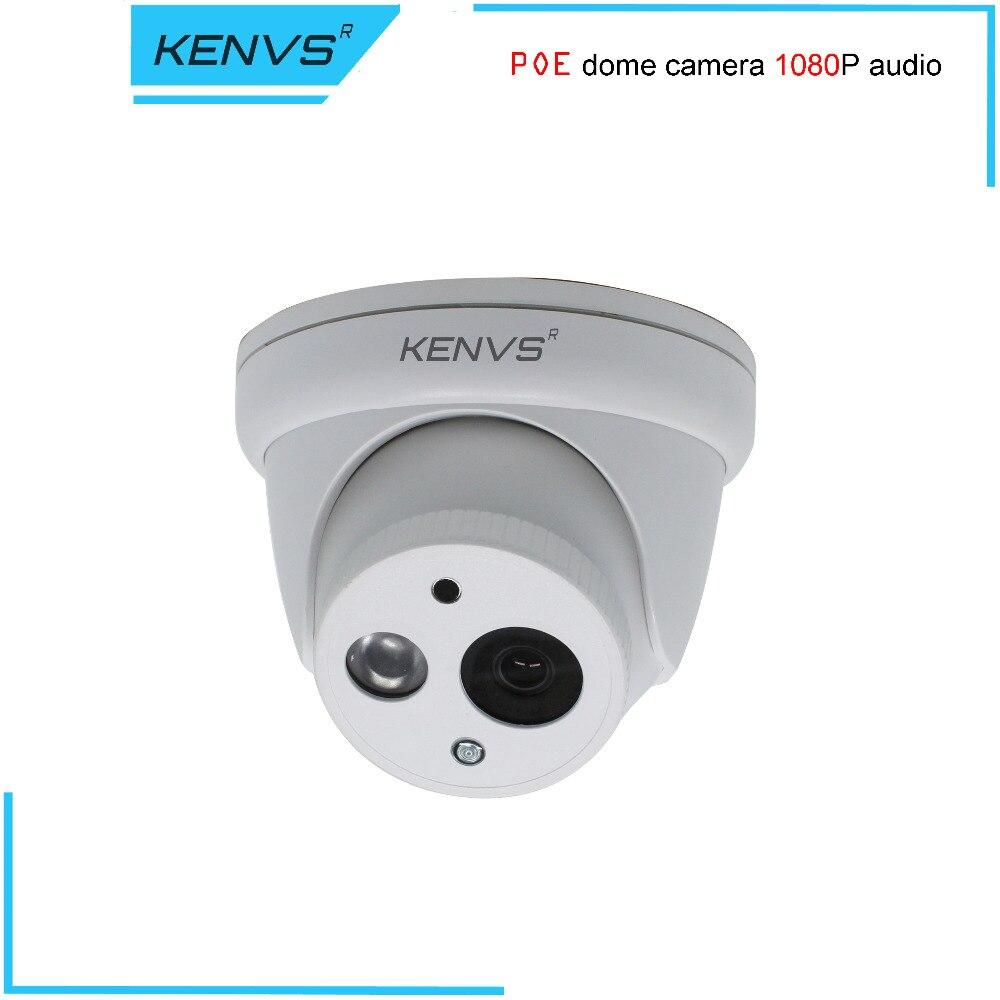 imágenes para SONY H.265 iluminación Baja, bajo flujo de código de Cámara Domo IP ONVIF 2.0 Visión Nocturna P2P POE Audio 1080 P