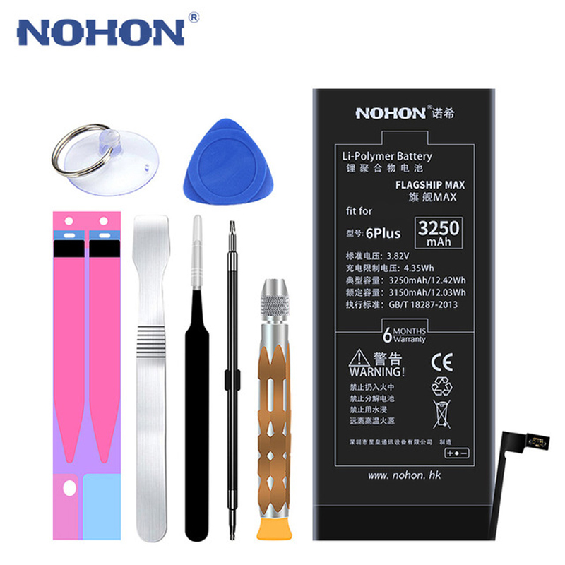 Image 3 - Original NOHON For iPhone 6S 6 Plus 6S Plus 7 Plus 8 Plus Battery Real High Capacity Replacement Batteries Mobile Phone Bateria-in Mobile Phone Batteries from Cellphones & Telecommunications
