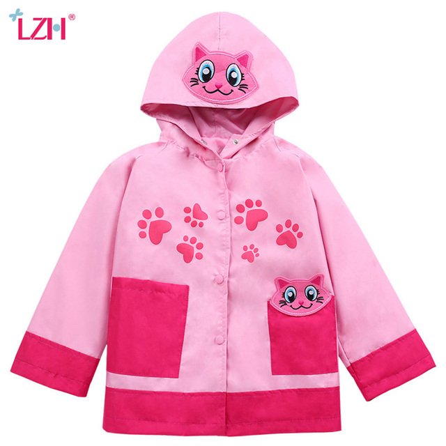 c126f183a LZH 2018 Autumn Winter Jackets For Girls Trench Coats For Girls Windbreaker  Boys Raincoat Kids Outerwear Coat Children Clothes