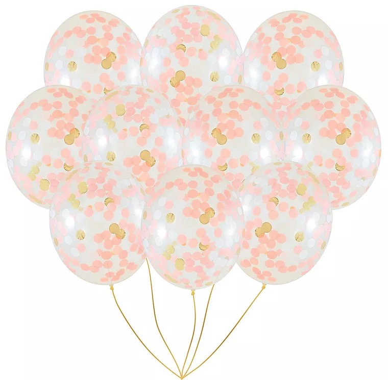 3-palčni 12-palčni konfeti Baloni iz roza zlata konfeti Prozorni - Prazniki in zabave