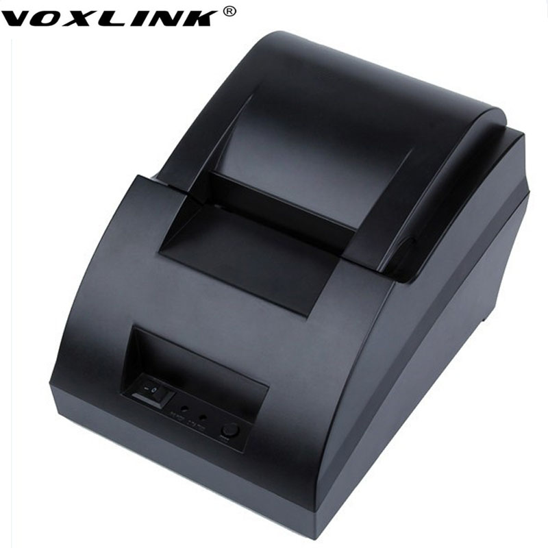 ФОТО High quality VOXLINK Cheapest thermal printer 58mm USB interface 58H pos receipt printer restaurant bill printer 90mm/s