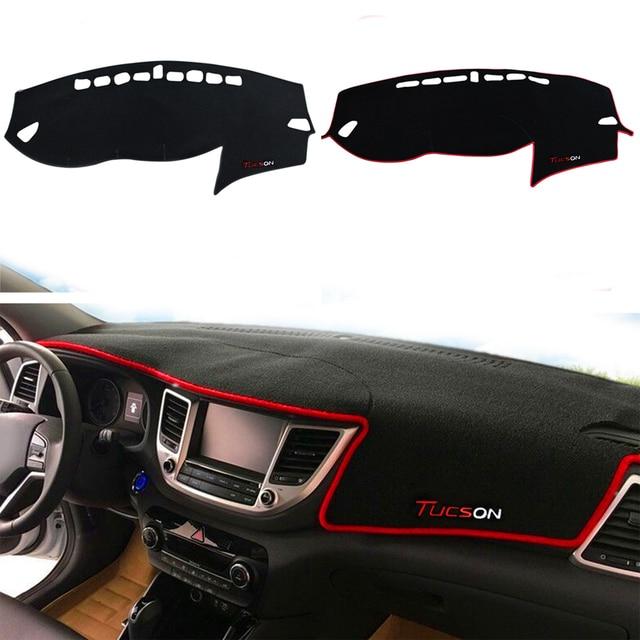 For Hyundai New Tucson 2016 2017 Car Dashboard Cover Dashmat Dash Mat Pad Sun Shade Dash Board Cover Carpet Car-Styling Protect