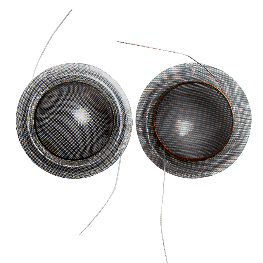 2PCS 20 20.4 Core Treble C3/4 Crystal Film 20.4mm Coil Black Transparent Film High Voice Coil Film  8ohm Speaker Repair Parts
