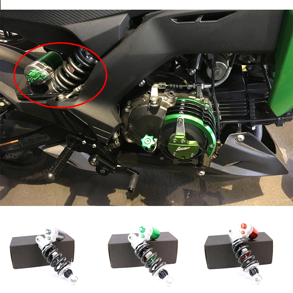 Motorcycle Accessories Aluminum Alloy Air Shock Absorber Rear Suspension Shock Absorber For Kawasaki z125 3 Color small high game off road motorcycle accessories appollo kawasaki air hydraulic damping shock absorber aluminum bold