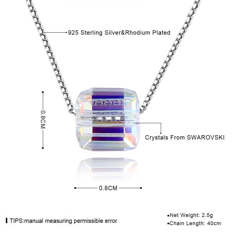 BAFFIN kristallid SWAROVSKI Cube helmestest Kaelakee ripatsid 925 - Mood ehteid - Foto 6