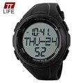 TTLIFE Lujo Marca Hombres Deportes Relojes LED Digital de Cuarzo de Pulsera de Calorías Podómetro 3D Reloj Militar relogio masculino