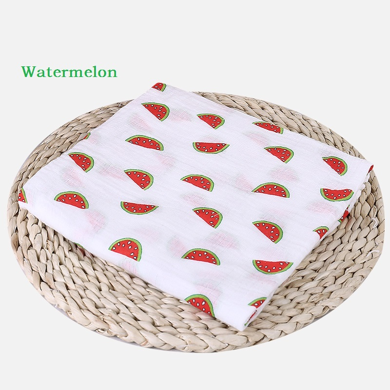 Baby Muslin Blanket Swaddle Cartoon Printed Cotton Soft Breathable For Newborn