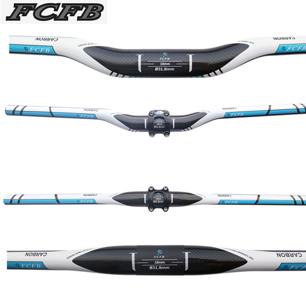 hot seller FCFB FW blue full carbon fiber mtb bicycle handlebar Mountain bike handlebar free fast shipping flat 720mm 125g karlsson часы slim index black