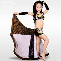 New Design Kids Children Egypt Style Belly Dance Costume Fully Hand Made Sewed Beads Dancing Set