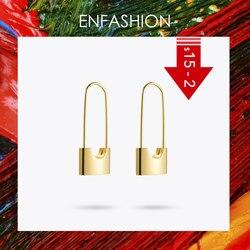 Enfashion Wholesale Lock Earrings Dangle Earring Rose Gold color Earings Stainless Steel Drop Earrings For Women Jewelry Brinco