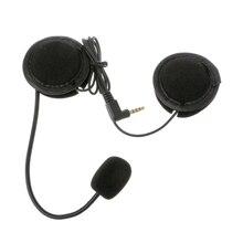 Мотоцикл Шлемы-гарнитуры высококачественный микрофон Динамик мягкий аксессуар для мотоцикл домофон работать с 3.5mm-plug
