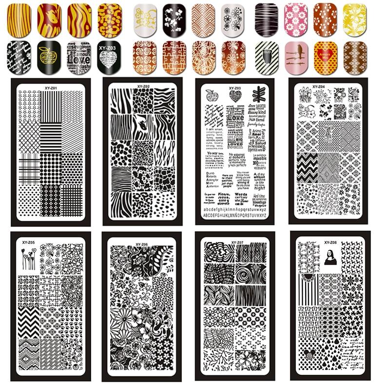1 Pc Xyz Nagel Stanzen Platten Rechteck 6*12 Cm Nail Art Stempel Stanzen Bild Drucken Polnischen Gel Schablone 3d Nagel Vorlage Hitze Und Durst Lindern. 1-32