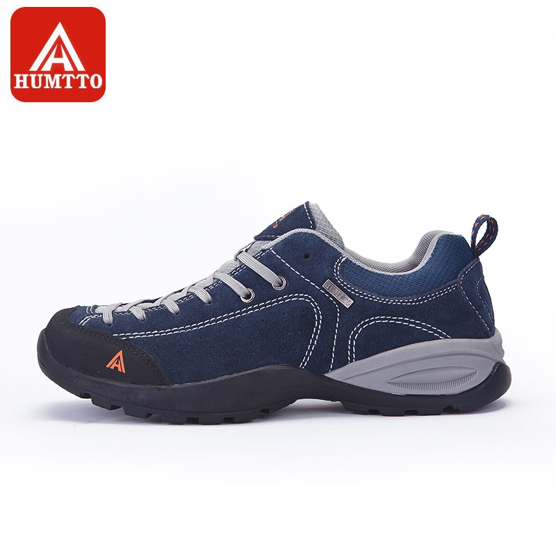 HUMTTO Walking Shoes Men Leather SneakersWinter Outdoor Sports Climbing Camping Light Non slip Wearable Trekking Shoes