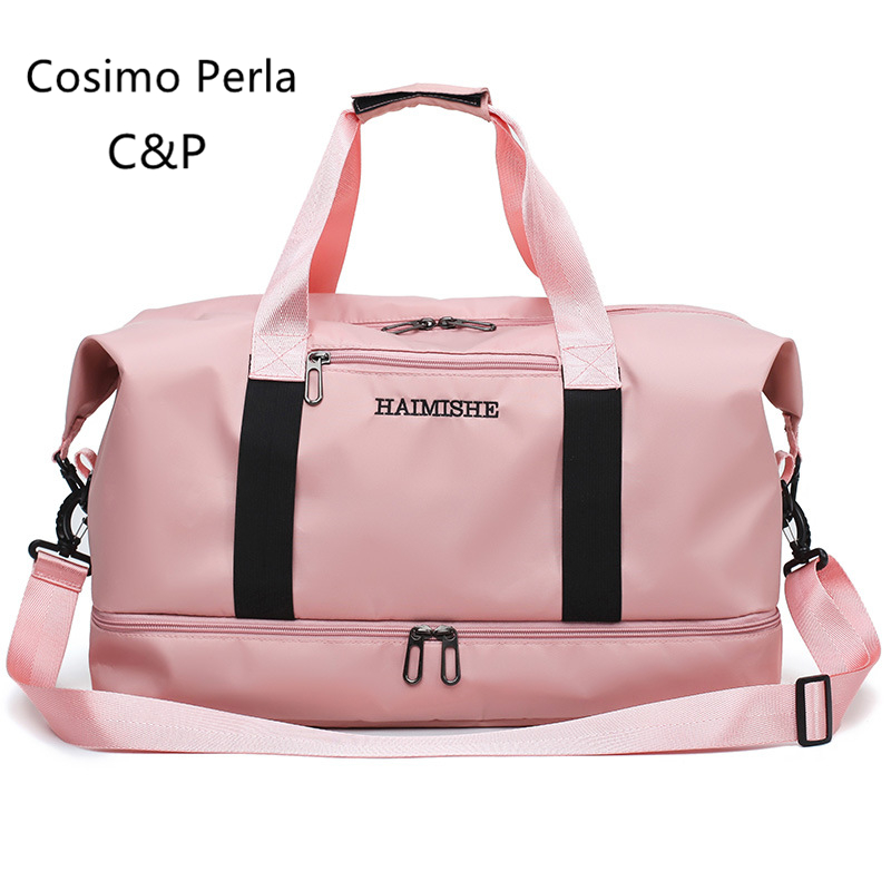 Multifuctional Oxofrd Portable Women Travel Bag With Shoe Compartment Fitness Duffel Dry Wet Separation Hand Luggage Carry On