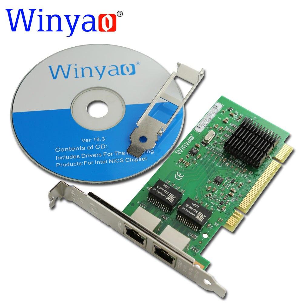 Winyao WY546T2 PCI Dual-port Gigabit Ethernet Network Adapter Card PRO/1000Mbps PWLA8492MT 82546 NIC lan nic 10/100/1000M