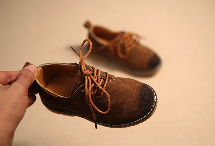 cda2572b7624 retro classic boy leather shoes traditional solid wine red brown gray  causal leather shoes for 1 11yrs boys kids children shoes-in Leather Shoes  from Mother ...