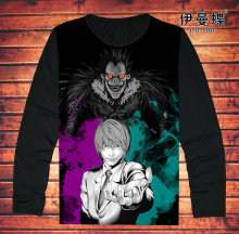 Mens Short Sleeved Anime Death Note T-Shirt Fashion Full Print Death Note L Tees Top T Shirt For Adult