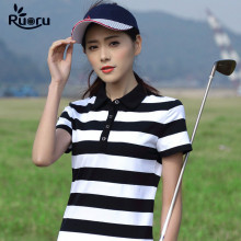 Ruoru M- 4XL Striped Polo Shirt Women Summer Short Sleeve Shirts Ladies High Quality Cotton Femininas Tops