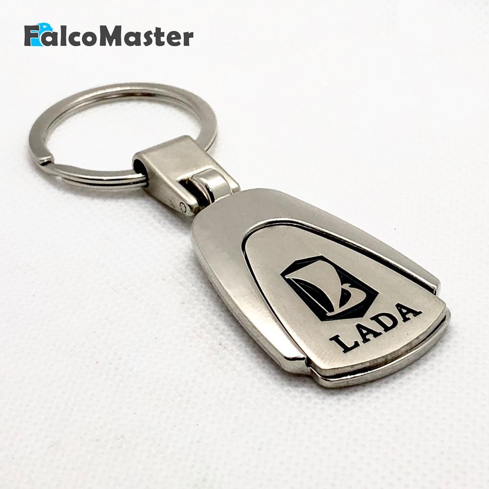 Car Keychain Metal Key Holder Logo Auto Car Fashion Accessories for Lada Kalina Granta Chain Ring 2x car led w5w t10 194 clearance light for lada granta vaz kalina priora niva samara 2 2110 largus 2109 2107 2106 4x4 2114 2112