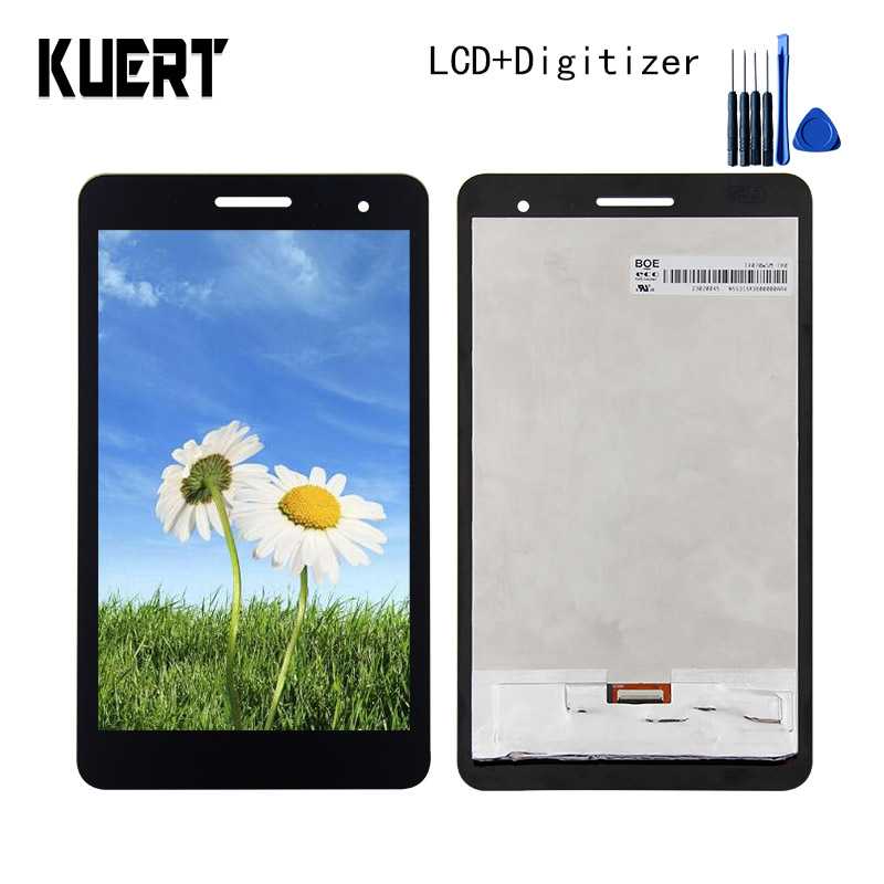 For Huawei Honor Play Mediapad T1-701 T1 701U T1-701U Panel LCD Combo Touch Screen Digitizer Glass LCD Display Assembly Parts for huawei mediapad t1 8 0 3g s8 701u honor pad t1 s8 701 white touch screen panel digitizer glass lens sensor replacement