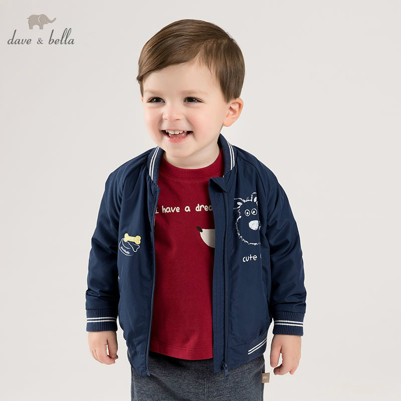 DBM10109 dave bella spring baby boys fashion coat children tops infant toddler high quality coat