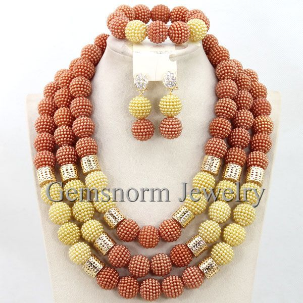 New Coral Gold Balls Wedding Beads Necklace Jewelry Set 2017 Statement Necklace Set New New Free Shipping WB624New Coral Gold Balls Wedding Beads Necklace Jewelry Set 2017 Statement Necklace Set New New Free Shipping WB624