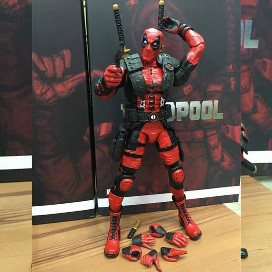 Red In Stock 20cm Super Hero Justice league X-MAN Deadpool Action Figure Toys Collection Model With Retail Box 270 new hot 18cm super hero justice league wonder woman action figure toys collection doll christmas gift with box