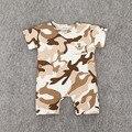 Preax Crianças Nova moda colthing bebê boys & girls romper do bebê Recém-nascido de algodão primavera & verão a roupa do bebê do bebê camuflagem macacão
