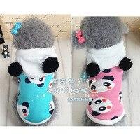 Meng Meng Da Shy Little Panda Pet Cat Dog Bichon Tactic Winter Clothes Clothing Turned Hoodie