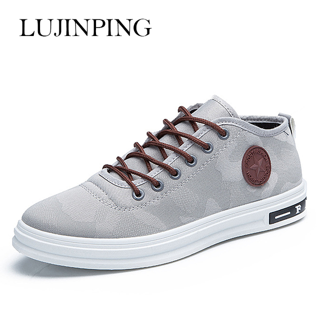 Four Seasons Youth Camouflage Canvas Shoes Men Casual Shoes Spring Lace Up Outdoor Light Breathable Flats Men Zapatos De Hombre