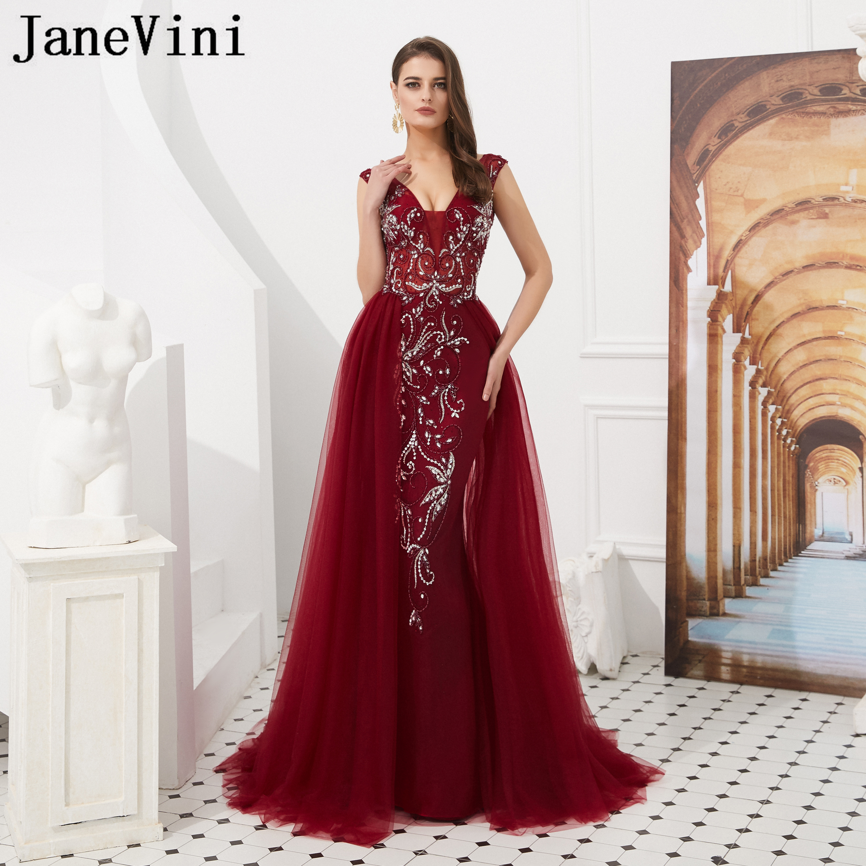 fb77504a5b JaneVini Rose Gold Sequined Bridesmaid Dresses Long Short Sleeve ...