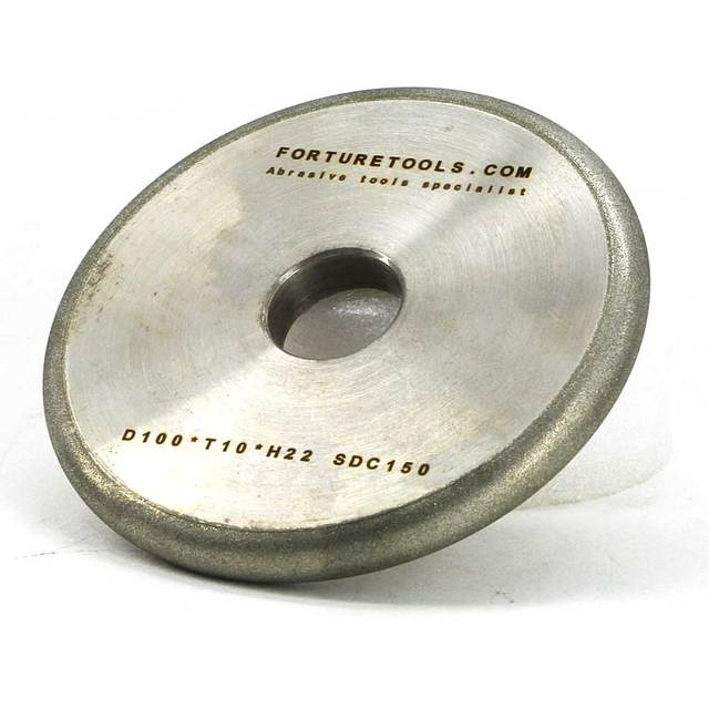 One piece flat wheel with round edge radius 5 electroplated diamond and CBN grinding wheel for metal and non metal sharpening DZ