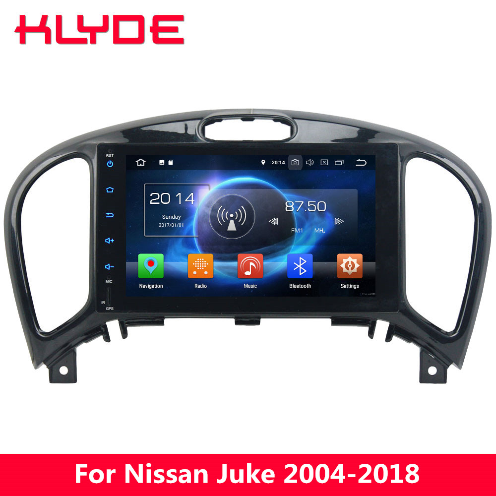 KLYDE 4G Octa Core 4GB+32GB Android 8 Car DVD Player Radio Stereo For Nissan Juke 2004-2011 2012 2013 2014 2015 2016 2017 2018 klyde 8 2 din android 8 1 8 core 1024 600 car radio for nissan juke car audio stereo multimedia player