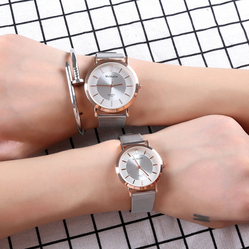 2018 New Scale Dial Leather Strap Casual Fashion Exquisite Precision High-end Women's Quartz Watch