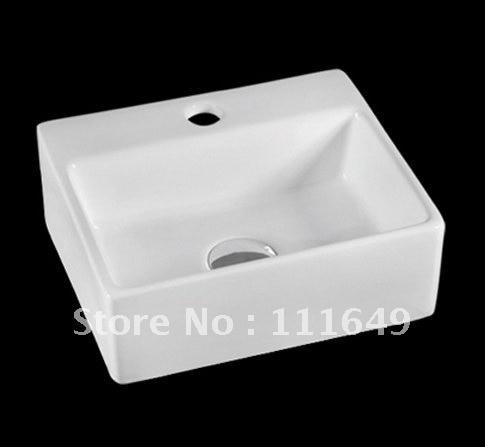 7414 bathroom ceramic counter top rectangular wash hand for Lavabo rectangular