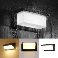 18W Warm/Cold White LED Wall Light Waterproof Porch Light Modern Street Lamp Radar Sensor Courtyard Garden deco Outdoor Lighting