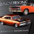 Jada escala 1:32 alta simulación de aleación modelo de coche, plymouth road runner, modelos de juguetes de calidad, envío libre